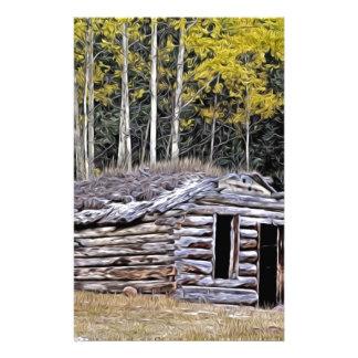 Columbia Británica abandonada de la cabina de los Papeleria Personalizada