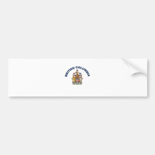 Columbia Británica Etiqueta De Parachoque