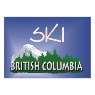 Columbia Británica SUPERIOR del esquí Plantilla De Tarjeta De Negocio