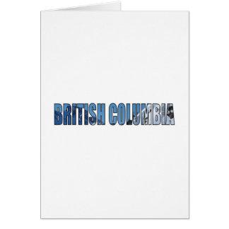 Columbia Británica Tarjeta De Felicitación