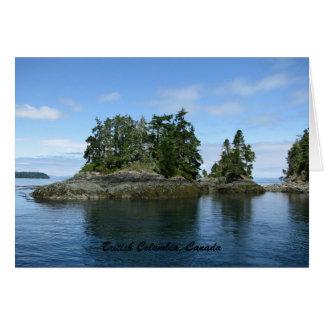 Columbia Británica tarjeta de felicitación de Can