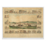 Columbia, CA. Panoramic Map 1855 (0441A) Print