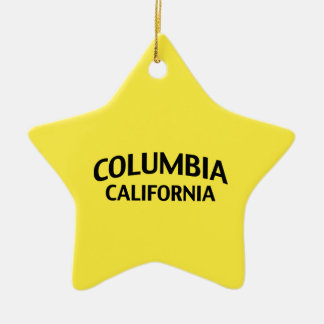 Columbia California Double-Sided Star Ceramic Christmas Ornament