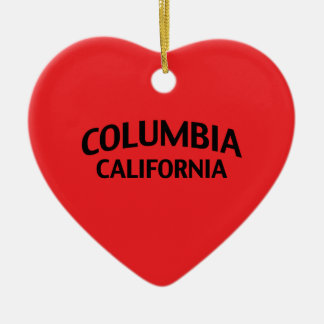 Columbia California Double-Sided Heart Ceramic Christmas Ornament