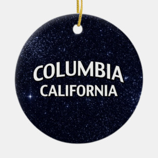Columbia California Double-Sided Ceramic Round Christmas Ornament