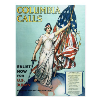 Columbia calls postcard