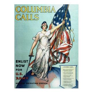 Columbia calls postcards