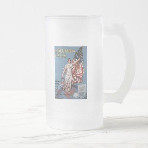 Columbia Calls World War 2 Coffee Mug