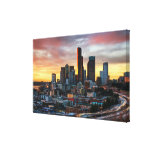 Columbia center and downtown Seattle, Seattle Stretched Canvas Print