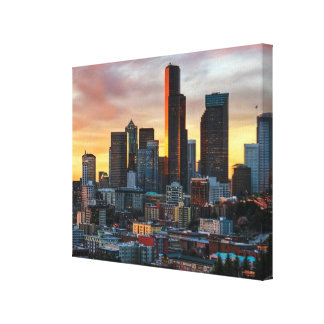 Columbia center and downtown Seattle, Seattle Gallery Wrapped Canvas