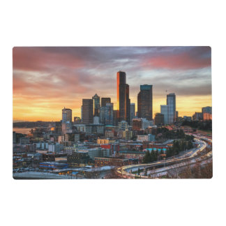 Columbia center and downtown Seattle, Seattle Placemat