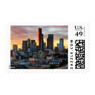 Columbia center and downtown Seattle, Seattle Stamp