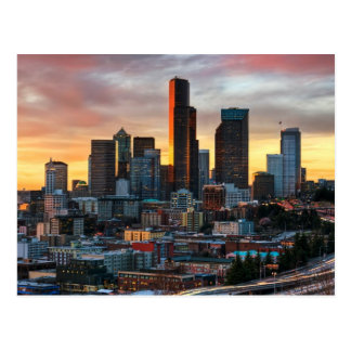 Columbia center and downtown Seattle, Seattle Postcard