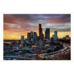Columbia center and downtown Seattle, Seattle Print