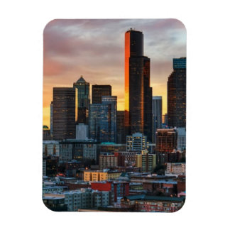 Columbia center and downtown Seattle, Seattle Rectangular Photo Magnet