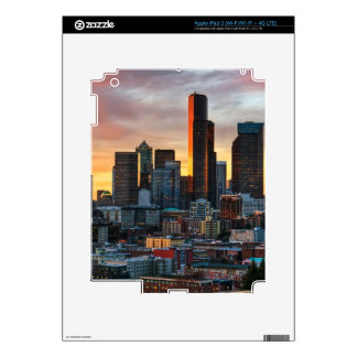 Columbia center and downtown Seattle, Seattle Skin For iPad 3