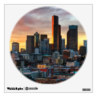 Columbia center and downtown Seattle Seattle Wall Graphic