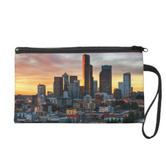 Columbia center and downtown Seattle, Seattle Wristlet Purse