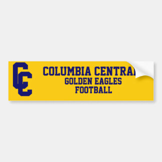 Columbia Central Football Bumper Sticker