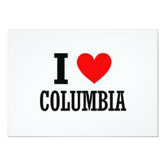 """Columbia, diseño de la ciudad de Alabama Invitación 5"""" X 7"""""""