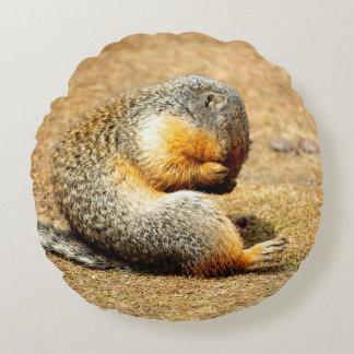 Columbia Ground Squirrel Round Pillow