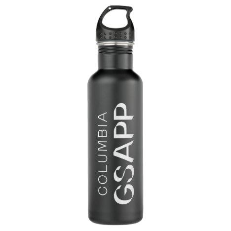 Columbia GSAPP White Logo Stainless Steel Water Bottle
