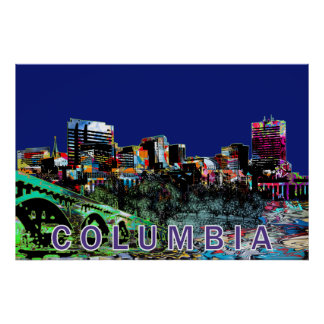 Columbia in graffiti poster