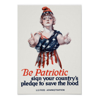 Columbia Invites You To Save Food -- WWI Poster