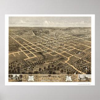 Columbia, mapa panorámico del MES - 1869 Impresiones