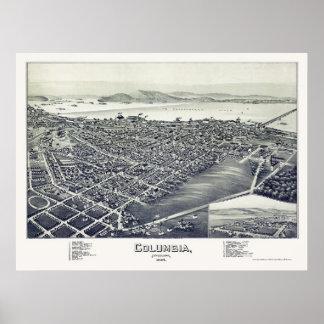 Columbia, mapa panorámico del PA - 1894 Poster