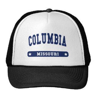 Columbia Missouri College Style tee shirts Trucker Hat