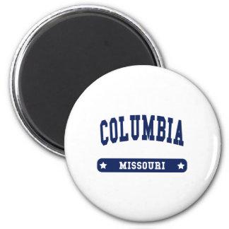 Columbia Missouri College Style tee shirts 2 Inch Round Magnet