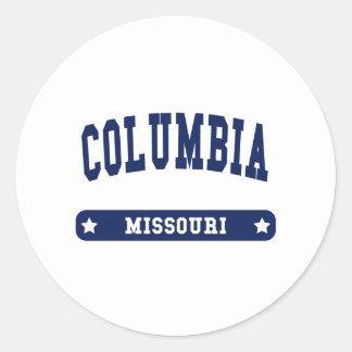 Columbia Missouri College Style tee shirts Stickers