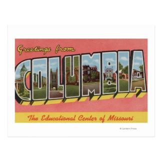 Columbia, Missouri - escenas grandes de la letra Postales