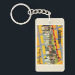 """Columbia Missouri MO Old Vintage Travel Souvenir Keychain<br><div class=""""desc"""">Columbia,  Missouri MO  A nostalgic,  vintage travel souvenir postcard image,  an authentic retro design. Greetings from the American Travelogue Virtual Touring Company!</div>"""