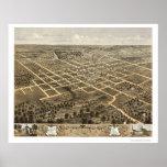 Columbia, MO Panoramic Map - 1869 Print