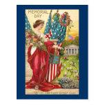 Columbia observa el vintage del Memorial Day Tarjetas Postales