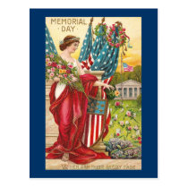 Columbia Observes Memorial Day Vintage Postcard