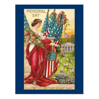 Columbia Observes Memorial Day Vintage Postcards