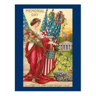 Columbia Observes Memorial Day Vintage Postcard