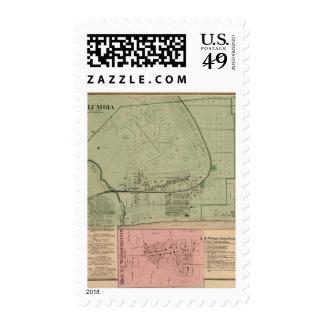 Columbia, Ohio 2 Stamps