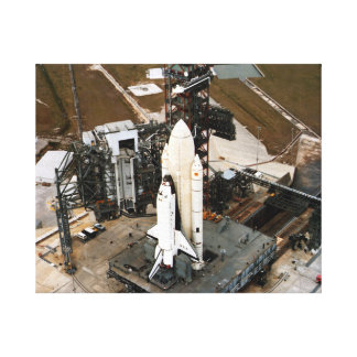 Columbia On Launch Pad Canvas Print