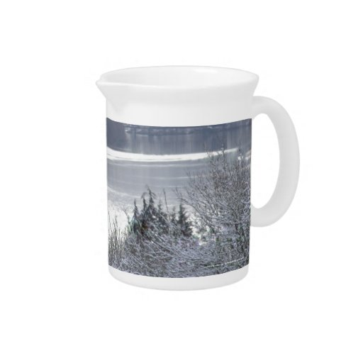 Columbia river and snow 2 beverage pitchers