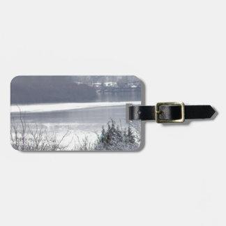 Columbia river and snow 2 bag tag