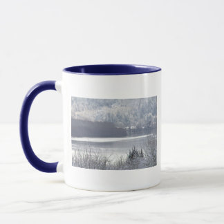Columbia river and snow 2 mug