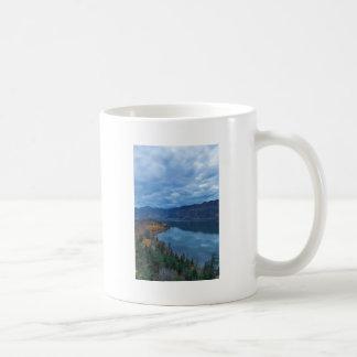 Columbia River Gorge Evening Blue Hour Coffee Mug