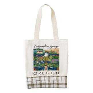Columbia River Gorge Plaid Tote. Zazzle HEART Tote Bag