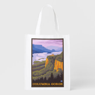Columbia River Gorge Scene with Crown Point Grocery Bags