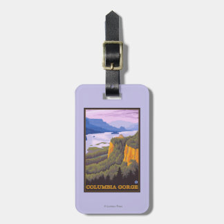 Columbia River Gorge Scene with Crown Point Tags For Luggage