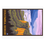 Columbia River Gorge Scene with Crown Point Postcard